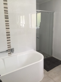 completed main bathroom